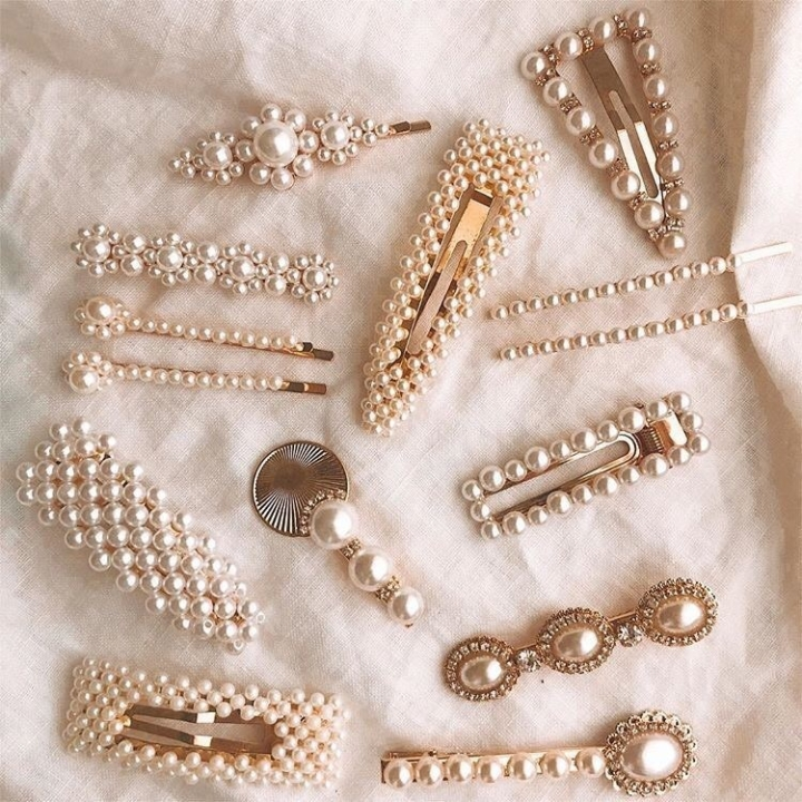 5 pearl hairclips which you can also get cheaper